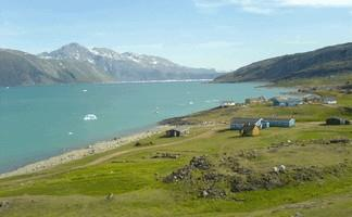 South Greenland - view on Eric's fjord from Qassiarsuk